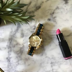 MMK - Oversized Blue & Gold Watch